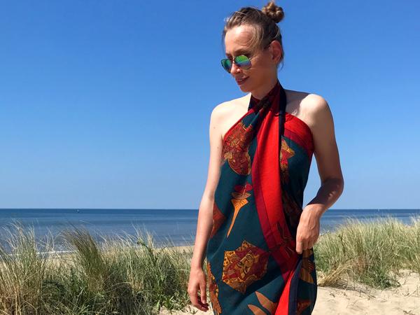 Hermes Soies Volantes cashmere shawl