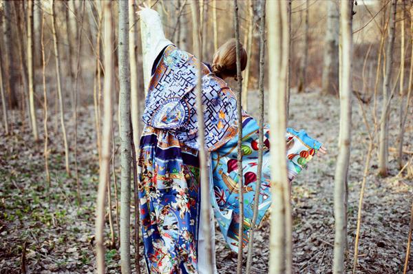 Hermes Kimono scarf